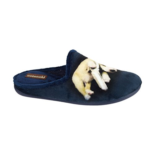 Cotswold Womens/Ladies Tayton Ladies Animal Mule Slippers Blue Dog GOoqBni