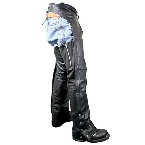 Leather Motorcycle Chaps - 5
