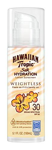 - Hawaiian Tropic Silk Hydration Weightless Sun Care Sunscreen Lotion SPF 30, 5.1 Ounce