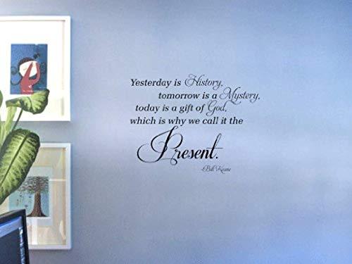 Wall Vinyl Decal Yesterday is History Bill Keane Decor Sticker Home Art Print TT11423
