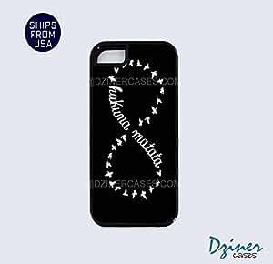 iPhone 5 5s Tough Case - Black Hakuna Matata iPhone Cover