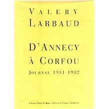 D'Annecy à Corfou : journal 1931-1932