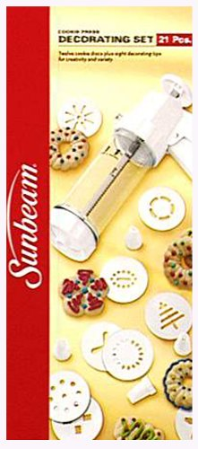 Sunbeam 21-Piece Cookie Press/Decorating Set