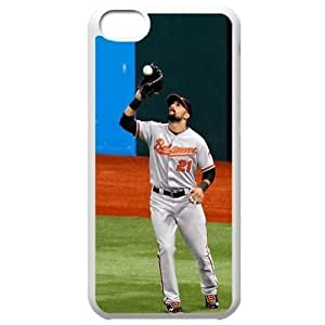 MLB Iphone 5C White Baltimore Orioles cell phone cases&Gift Holiday&Christmas Gifts NBGH6C9126089