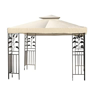 Heavy Duty 8x8 Ft Feet Square Garden Canopy Gazebo Replacement Top Ivory Color Outdoor Patio UV  sc 1 st  Amazon.com & Amazon.com: Heavy Duty 8x8 Ft Feet Square Garden Canopy Gazebo ...