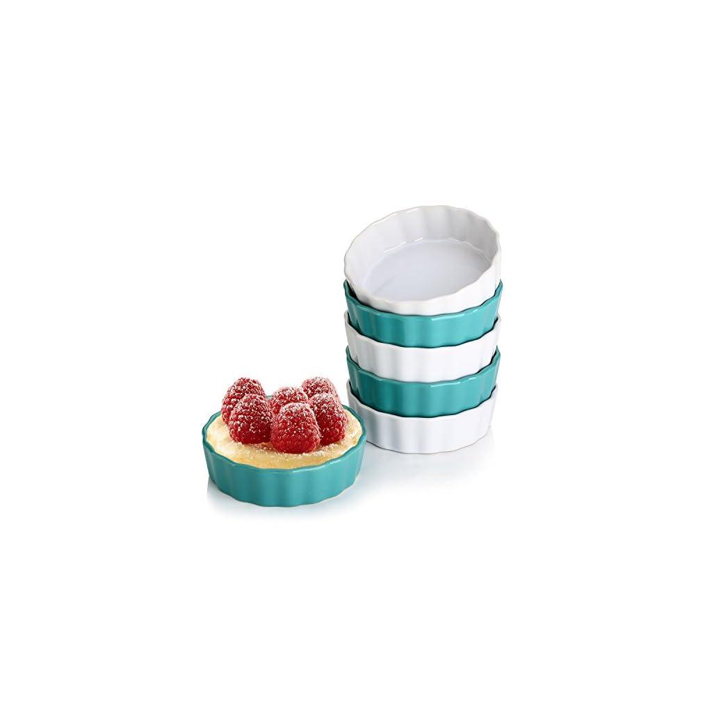 Lifver 5 Ounces Ceramic Ramekins For Baking Creme Brulee