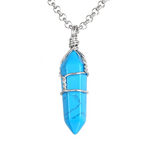 Gemstone Necklace BRCbeads Pendant Stainless