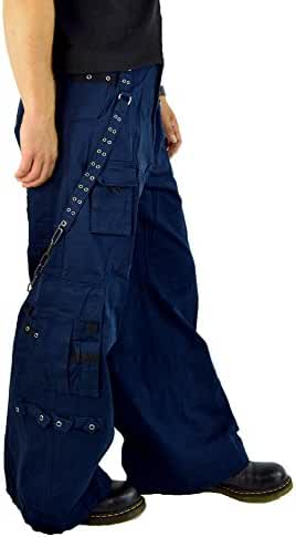 Tripp Gothic Punk Rocker Techno Rave Cyber Goth Navy Baggy Jeans Pants