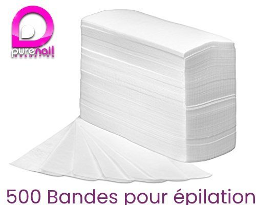 Purenail - Set de 500 bandas de depilación no tejidas (incluye 100 bandas gratuitas) Purenail Beauty