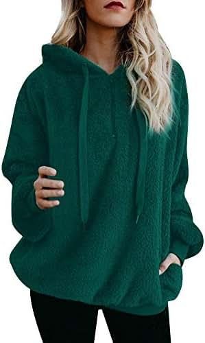 Sweaters for Women Plus Size Warm Winter Top Hoodie Sweatshirt Ladies Hooded Pullover Jumper Outerwear Tunic