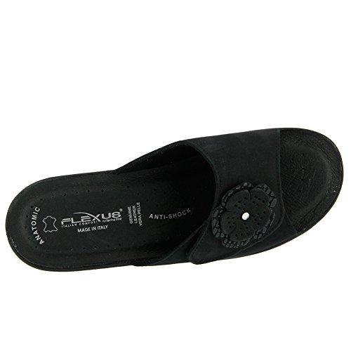 Flexus Vrouwen Fabia Essentials Slide Sandaal Zwart