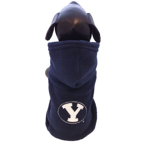 All Star Dogs NCAA Brigham Young University Cougars Collegiate Polar Fleece Hooded Dog Jacket ()