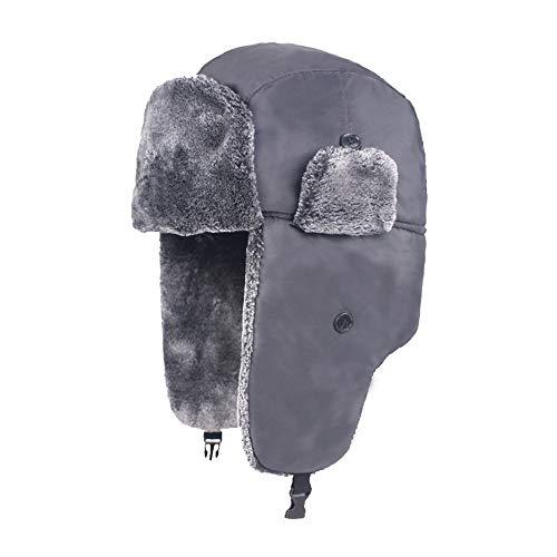 iDWZA Men Women Plus Velvet Thick Earmuffs Windproof Waterproof Warm Snow Caps (Pimp Hat Velvet)