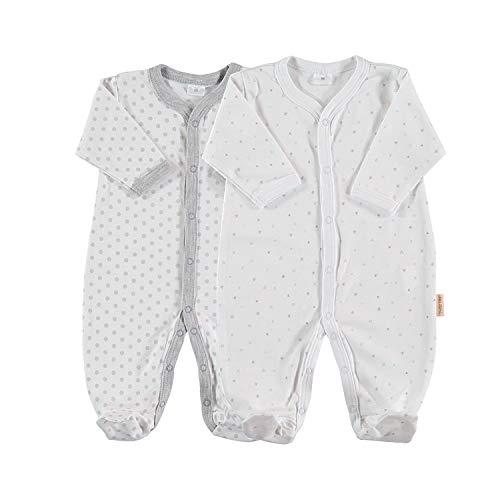 Pack de 2 Pijamas de Manga Larga para beb/é 100/% algod/ón Pima Talla 6-9 Meses Petit Oh!