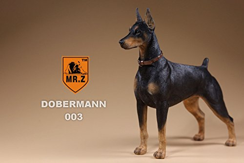 (Doberman Pinscher Dog Figurine Animal | Handmade & painted | Statuette For Home Desk Decor Pet Lovers Gift Idea Doberman Pinscher sculpture (Black))
