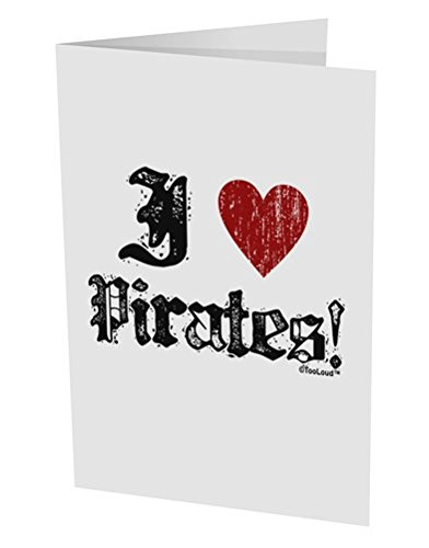 [TooLoud I Heart Pirates 10 Pack of 5x7