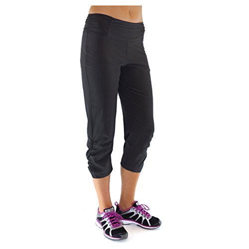 Alex + Abby Women's Plus-Size Motion Capri 3X Black