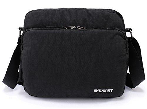 Women high quality shoulder shopping bags medium handbags (Black) - 3