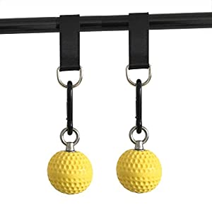 letsgood Climbing Pull Up Power Ball Hold Grips – Durable and Non-Slip Hand Grips Strength Trainer Exerciser for…