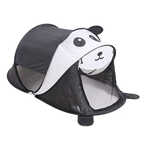 (yuandao Kids Pop up Tent with Panda Shape, Foldable Pop up Tent for Kids Indoor and Outdoor Playhouse, 75'' x 35''(DxH)(Panda))