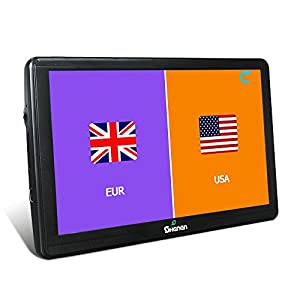 All America Europe Maps Gb Car Navigation  Inches Gps Sat Nav Capacitive Touchscreen Lifetime Maps Updates With  Car Charger