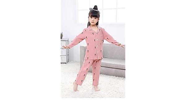 Pijamas De Manga Larga Pantalones De Dormir para Niños Servicio Doméstico De Primavera Y Otoño Traje Familiar para Niños De Verano, Pink-110: Amazon.es: ...
