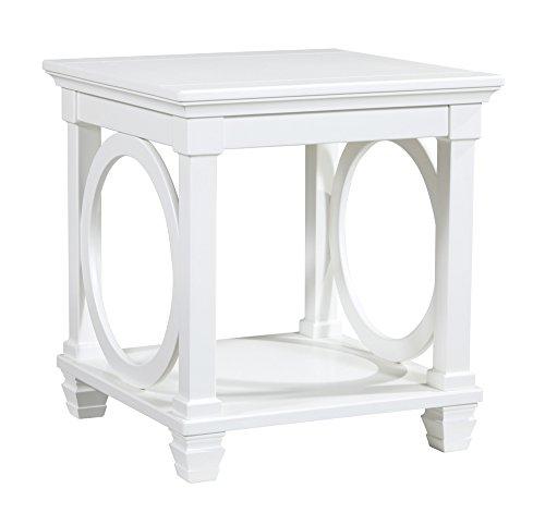 Ashley Furniture Signature Design - Mintville Contemporary Square End Table - White (Table Contemporary Square)