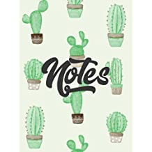 Cactus Notebook: Watercolor Succulent Cactus Journal Notebook 110 Page Composition Book Diary Planner Cactus Lover Gifts (8.5 x 11 inch)