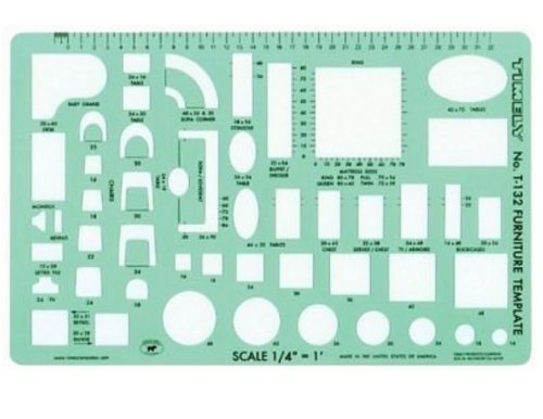 Timely 132T Furniture Template, 1/4″