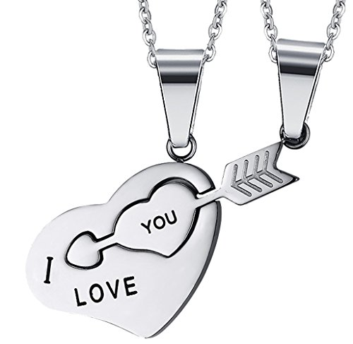 Stainless Steel Love Infinity Double Ring Necklace (Gold Plated) - 4