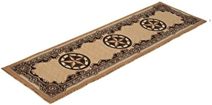Rugs 4 Less Collection Texas Lone Star State Novelty Runner Area Rug R4L 723 Berber Beige 2 X7