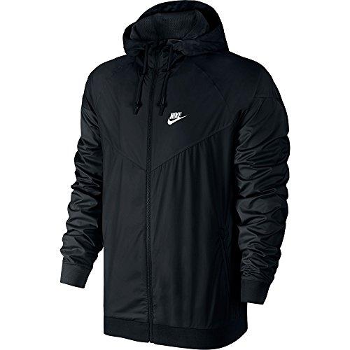 online store 42471 ea038 Nike Windrunner Athletic Mens Jacket BlackWhite 727324-010 (Size L)