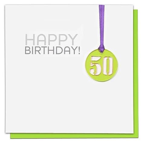 Block Biglietto Di Auguri Per Il Cinquantesimo Compleanno Colore