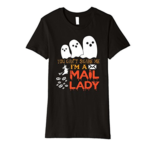 Womens Scary & Spooky Mail Lady Funny Halloween T Shirt -