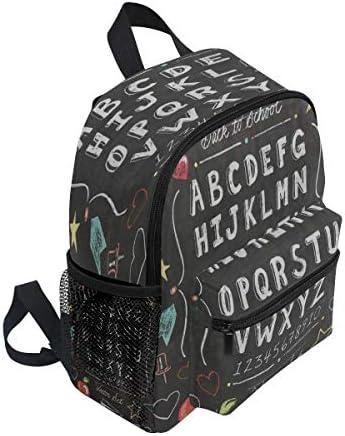 Rucksack Kinderschulrucksack Vintage School Chalkboard Star Elementary Bookbag Schultasche für Mädchen Jungen
