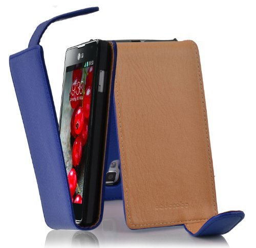 Cadorabo – Flip Style Case for LG OPTIMUS L7 II (P710) – Shell Etui Cover Protection Skin in NAVY-BLUE