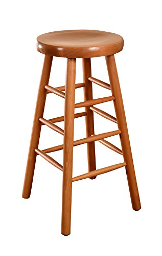 Beechwood Mountain BSD-13B-N Solid Beech Wood Backless Bar Stool in Natural for Kitchen and (Beech Stool)