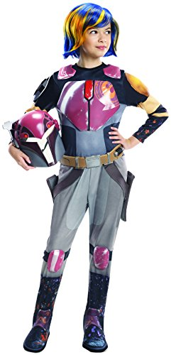 Rubie's Star Wars Rebels Sabine Deluxe Child Costume, Medium