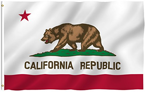 3Ft X 5Ft California Flag   Polyester   3X5 Cali Flag Poly