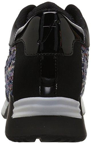 Il Colore Delle Donne Fix Lexi / Materiale Blocco Jogger Sneaker Tweed / Nero