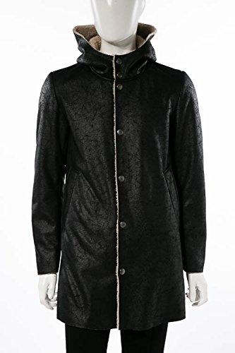 (ダニエレアレッサンドリーニ) DANIELEALESSANDRINI ボアコート ブラック メンズ (X801M4843806) 【並行輸入品】 B07FR6B13Y 48|ブラック ブラック 48
