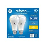 GE Refresh 2-Pack 100 W Equivalent Dimmable Daylight A21 LED Light Fixture Light Bulbs