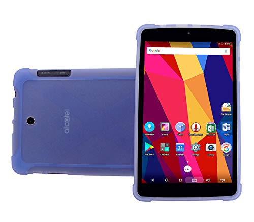 iShoppingdeals Compatible Protective TPU Case Replacement for T-Mobile Alcatel A30 8-inch Tablet 9024W 2017 Release (Blue)