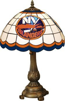 Nhl Table Lamp (Memory Company NHL New York Islanders Tiffany Table Lamp, One Size, Multicolor)