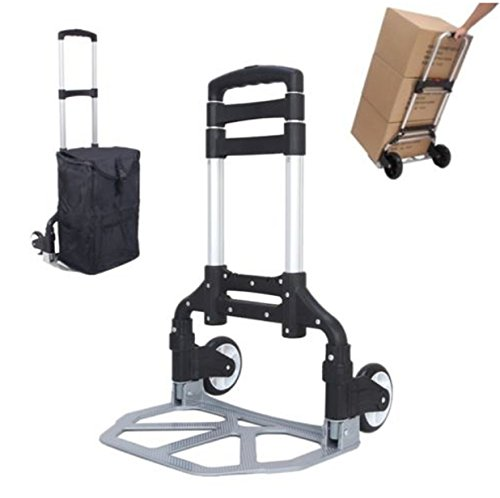 Music Rental Man Costumes (Cart Folding Dolly Wheels Moving Hand Rolling Utility Trolley Bags Shopping Luggage Aluminium)
