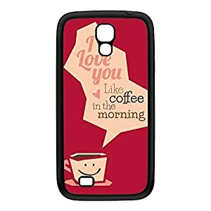 Funny Typography Coffee Quote Black Silicon Rubber Case for Galaxy S4 by UltraCases + FREE Crystal Clear Screen Protector
