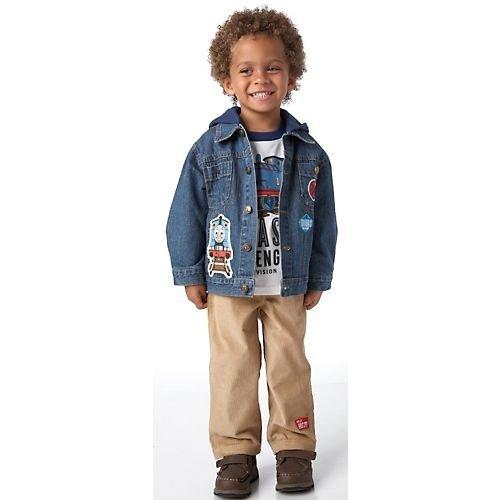 Thomas the Train Little Boys' Toddler 3pc Set with Denim Jacket - Toddler (2T)
