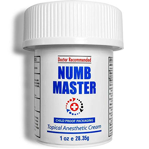 Numb Master Lidocaine 5% Topical Numbing Cream, Pain Relief Cream for Hemorrhoid Treatment for Anorectal Discomfort, Topical Anesthetic Cream with Aloe, Vitamin E with Child Resistant Cap, 1oz
