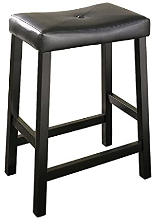 Crosley Furniture Upholstered Saddle Seat 24-inch Bar Stool - Black (Set of 2  sc 1 st  Amazon.com & Amazon.com: Crosley Furniture Upholstered Saddle Seat 24-inch Bar ... islam-shia.org