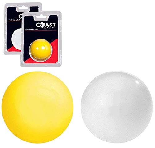 Coast Athletic Field Hockey Ball | Smooth Regulation Field Hockey Ball, White